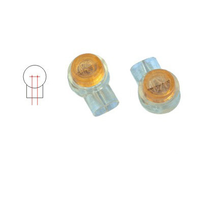 Waterproof IDC Terminal Block Lock Joint 3M UY2 Scotchlok Connector With Yellow Lid