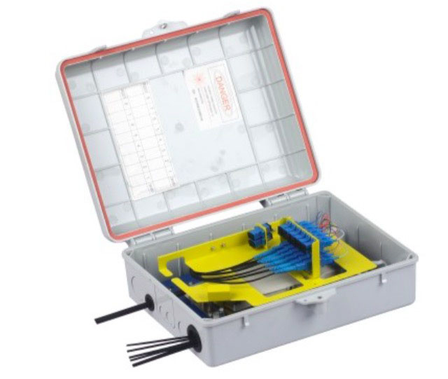 24 Core Waterproof Junction Box , Insert Type Splitter Outdoor Terminal Box