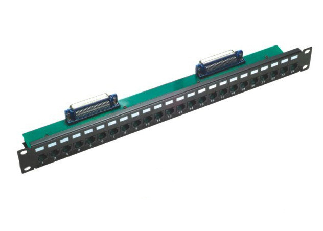 Rj21 To Rj45 Patch Panel 24 Port Cat5E 50 Micro For Networking / Cabling
