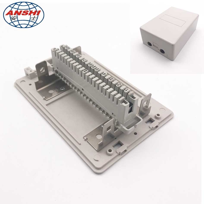 Network Cable Distribution Box 10/20/30 Pair Telephone Module Surface Mounting Insert Type