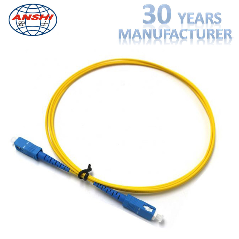 Simplex Duplex 2.00mm Optical Fiber Patch Cord 0.3dB Insertion Lost ISO9001